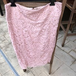 Express Pink Lace Skirt size 14